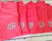 Monogrammed Oversized Men's Shirts for Bridal Parties and College Co-ed's