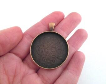30mm round copper bezel settings, pick you amount, B116