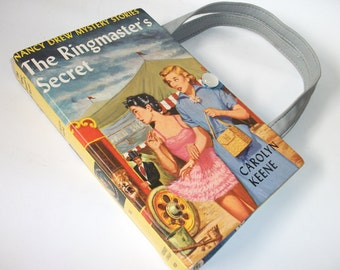 Book Purse Nancy Drew Ringmaster's Secret Handbag 1953 Upcycled Book Bag Vintage Trendy  Book Purse