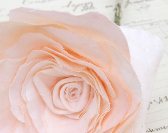 2nd Second Wedding Anniversary Long Stem Peach Rose Cotton Gift Flowermade to order check processing times