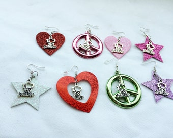 My Soldier Boy Earrings  Military Soldiers Peace Keepers  Support Our Troops
