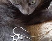 catnip molecule necklace - sterling silver molecular pendant