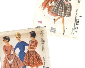 1960's Vintage Sewing Pattern McCall's Dresses 6398 or 6673
