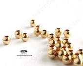 100 pcs 2.5mm 14K Gold Filled Round Beads Spacers B39GF