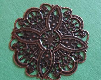 8pc antique copper finish 44mm wraps-9830