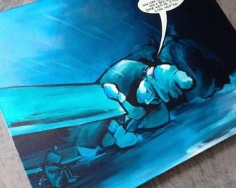 Original ROBOT COMIC modern art 24x30