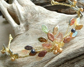 Queen Titania Tiara Gold Fairy Crown