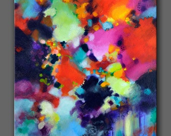 Abstract Art Print, Modern Giclee Print on Canvas, from my original abstract acrylic painting, large wall art