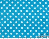 Sale HALF YARD - Lecien - Color Basic Double Gauze - 40527-70 White Dots Small on Bright Blue - Japanese Import Fabric