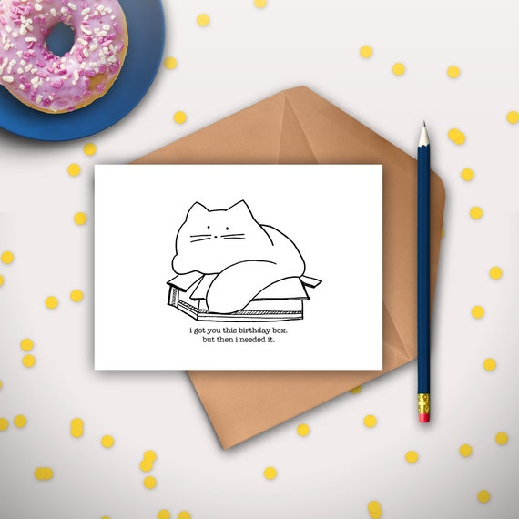 Funny Cat Birthday Card Printable Instant Download Cat – Best Friend Birthday Cards Printable