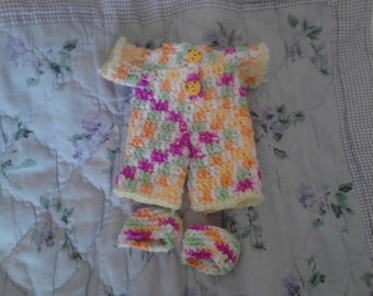 Pastel Variegated Pajama For 6.5in Curly Girl Doll