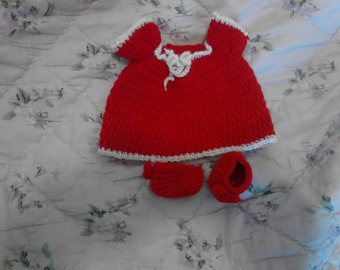 Red Night Gown For My 6.5in Curly Girl Dolls