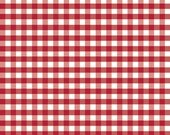 Riley Blake FABRIC - Medium Gingham - Red