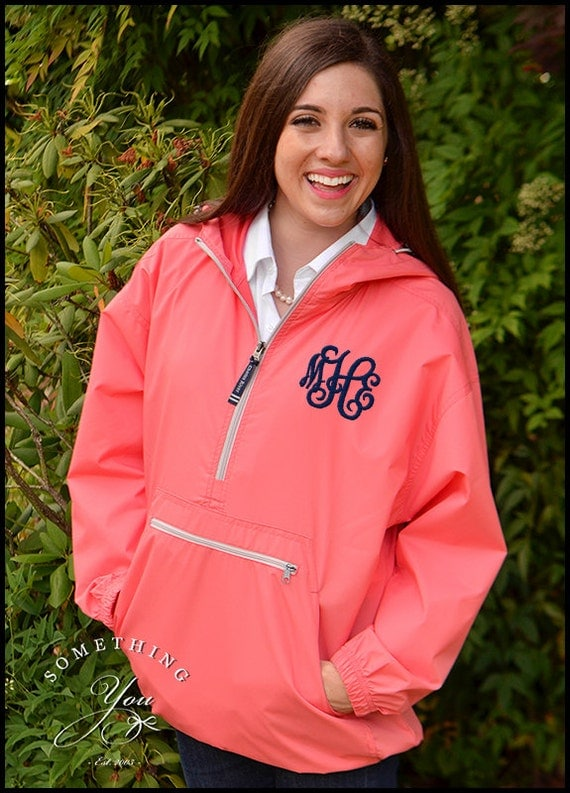 Monogram Windbreaker Jacket Personalized by SomethingYouGifts