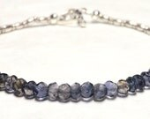 Iolite Braclet, Iolite Jewelry, Iolite Gift, Gemstone Bracelet, Iolite, Karen Hill Bracelet, Karen Silver, Karen Hill Tribe, Iolite Silver