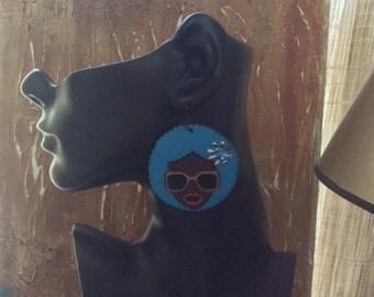 Afrocentric Jewelry,Fashion,Earrings, Wooden Silhouette Earrings