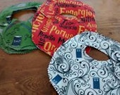 Geek Baby Bibs Supernatural Dr Who Harry Potter lined
