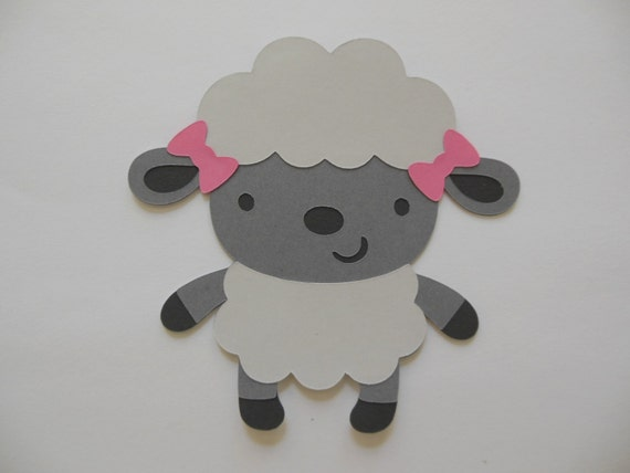 Items similar to farm animal cutouts lamb birthday for Baby shower decoration cutouts
