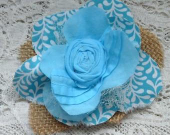 Fabric flower embellishment, scrapbooking flower, gift topper, flower applique,  flower supplies