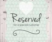 Reserved Order for Cuddles 'N Bundles
