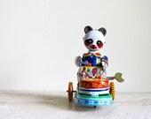 Vintage Drumming Animal Panda Windup Toy by Clockwork