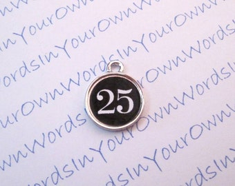 Silver Personalized Numbers Charm Use for Anniversaries Birthdays Any Occasion Baseball Softball Football Volleyball Soccer Any Sports