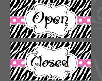 Ready To Ship Open Closed Signs For Shop Cute Sassy Boutique