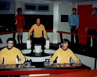 vintage photo 1970s Star Trek Spaceship Enterprise Wax Figures