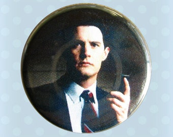 Special Agent Dale Cooper - Twin Peaks - 1990s - 1 Inch Pinback Button