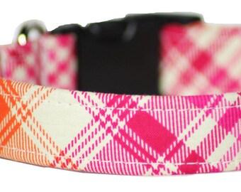 Plaid dog collar - Tartan Dog collar - Fairytale Tartan