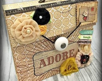 ADORE Box Accordion Pocket Scrapbook Mini Album