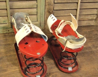 Free Shipping  Vintage Red White Spring Bounce Shoes in very good condition Free Shipping