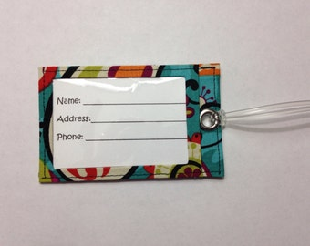 Multicolor Whimsical Luggage Tag