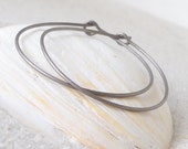 Hoop Earrings for Sensitive Ears - Pure Titanium - Hypoallergenic - No Nickle - Pure Titanium Earrings - Three Sizes Available