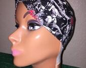 Pin-Up Rockabilly Style Hair-Head Wrap Scarf Tie Headband Made From Walking Dead Walker Zombie Fabric