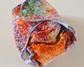 One Size Speckled Hand Dyed Velour Fitted Cloth Diaper