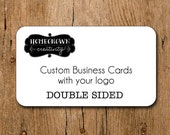 70 - DOUBLE SIDED - Custom Business Cards with Your Logo and Text - Rounded Corners