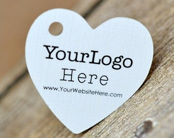 """90 tags - 1.5"""" - Heart Shape Customized Small Price Tags Jewelry Hang Tags Labels"""