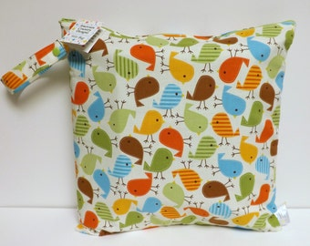 Medium Wet Bag - Wet Bag - 14 X 14 - Urban Zoologie Birds
