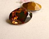 Swarovski 18x13mm Oval Article 4120 Smoked Topaz Crystal Rhinestone Jewel (57-5-1)