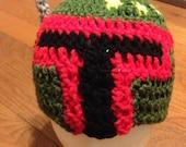 Boba Fett Crochet Beanie Bounty Hunter Beanie - all sizes available- Star Wars Fan