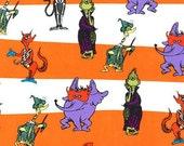 Dr. Seuss Spooktacular Seuss, Halloween Character Stripe in orange and black, yard