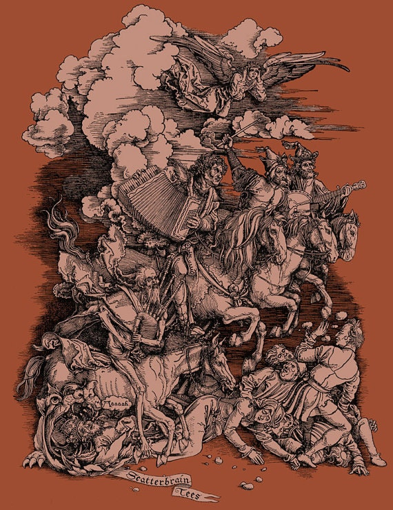 Albrecht Durer - Banjo Shirt - Parody Art - Musician Gift - Men's Funny Tshirt - Art History - Graphic Tee