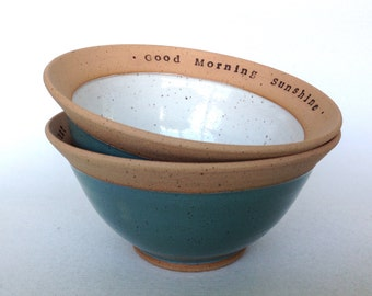 Custom Wheel Thrown Pottery Cereal Bowl