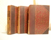 3 books A Library of Poetic Literature Pope Dante Rudyard Kipling R. L. Stevenson lot of antique vintage home decor supplies collage