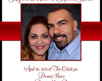 Wedding Invitations RED! Damask