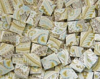 Mosaic Tiles--Morning Glory Paisley-108 Tiles
