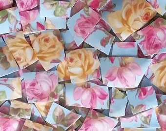 Mosaic Tiles--Rose Garden-60 Thick Tiles
