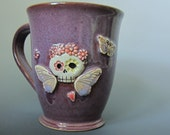 Fun & Quirky Coffee mug with sugar skull