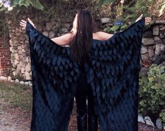 Maleficent Costume Wings, Crow Wings, Raven Wings, Black Wings, Cosplay Wings, Mardi Gras Wings, Unique Halloween Costume, Birthday Present